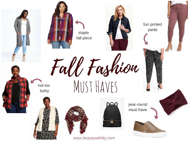 Fall Fashion Must Haves | Plus Size Style | beautywithlily.com