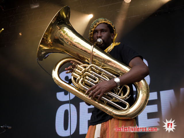 Sons of Kemet XL / Festival Colours of Ostrava 2019, Dolni Vitkovice, Ostrava, CZ
