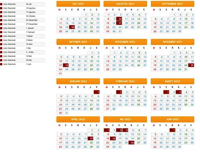 Terbaru Kalender Pendidikan Tahun Pelajaran 2021/2022 Provinsi Sulawesi Tengah