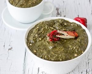 Tobago Crab and Callaloo