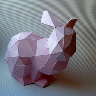 Origami, Hase, Ostern, Deko, Dekoration, Papier, gefaltet, loewchenzimmer, löwchenzimmer