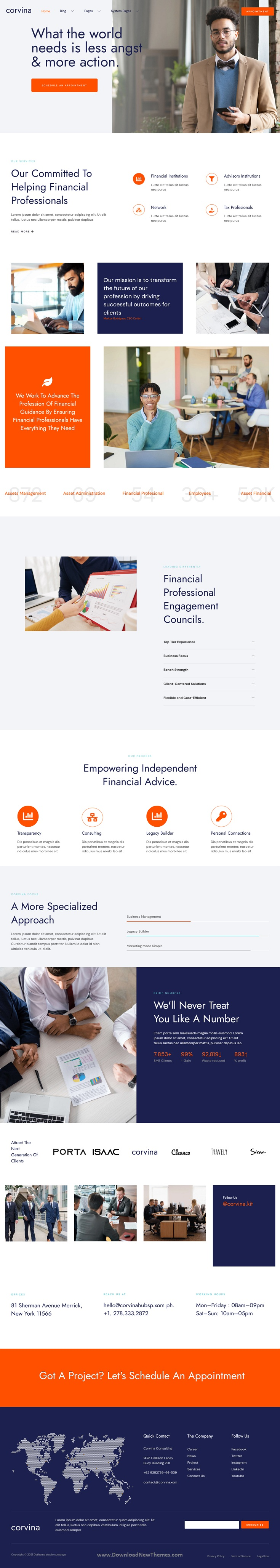 Corvina - Business Consulting HubSpot Theme