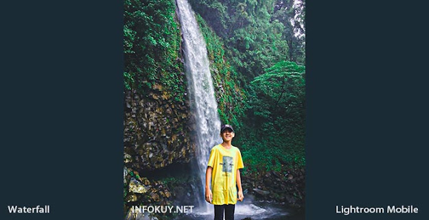 Sesudah Menggunakan Preset Waterfall