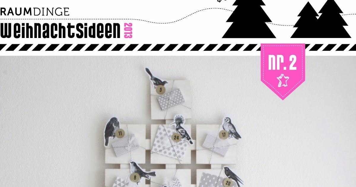 Raumdinge Adventskalender Geschenkebaum Mit Vögelchen Anleitung