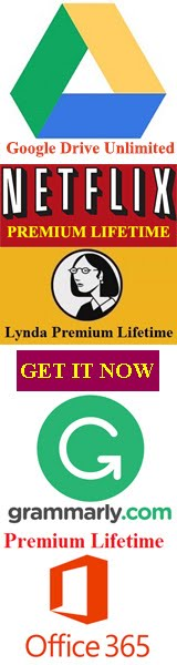 Grammarly Premium Crack, Google Drive Unlimited Storage, Netflix Lifetime, Download Lynda Videos,Of