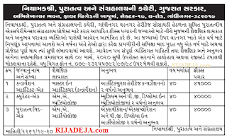 Directorate of Archaeology & Museums Gujarat Job