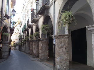 Cava de' Tirreni's porticoed streets provide shelter from the summer heat