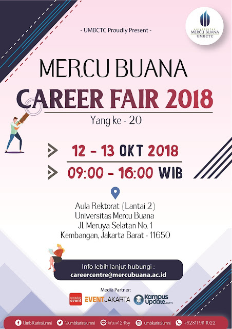 Job Fair Jakarta (Mercu Buana), Career Fair 2018
