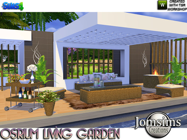 Дворик и сад — наборы мебели и декора для Sims 4 со ссылками для скачивания