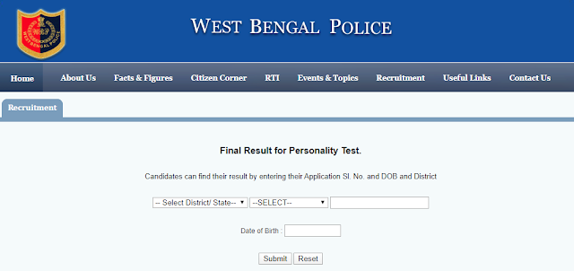 Excise Police SI and Lady SI Exam Result 2020