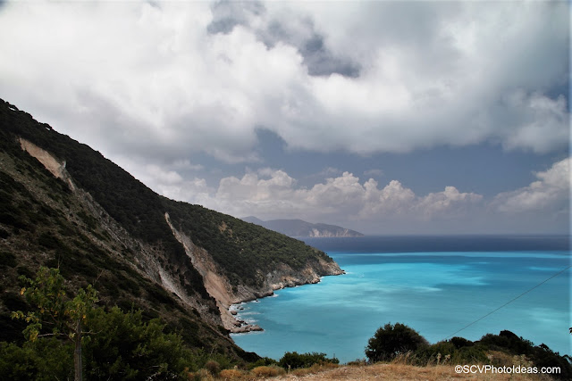 Myrtos bay, Cephalonia in a cloudy day