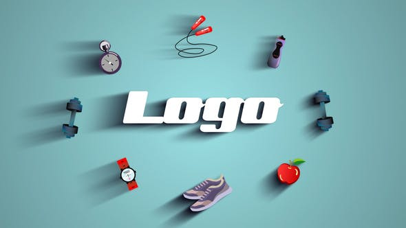 Videohive - Gym Fitness Logo .Free after effects templates