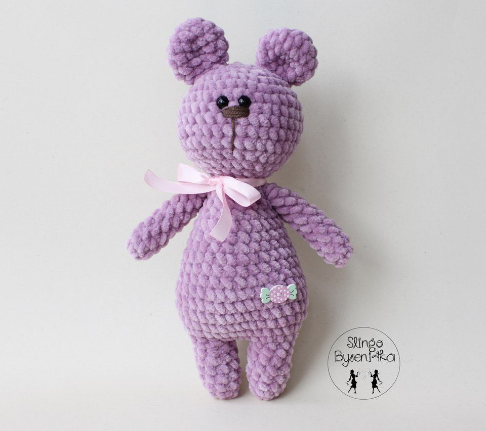 Crochet toy plush bear