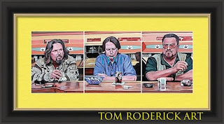 Pause for reflection by boulder portrait artist Tom Roderick