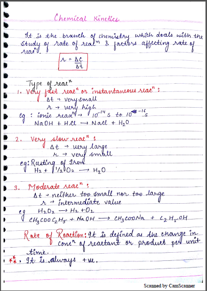 Chemistry Chapterwise Notes (Chemical Kinetics) : For JEE and NEET Exam PDF Book
