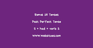 S + Had + Verb 3 Past Perfect Tense