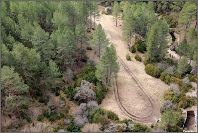 El Río Escabas en El Hosquillo justo antes de formar el cañón de salida del parque