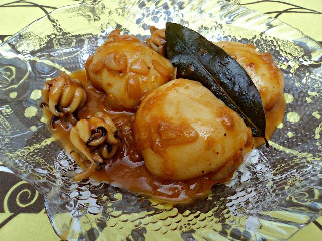 receta casera sepia salsa cebolla