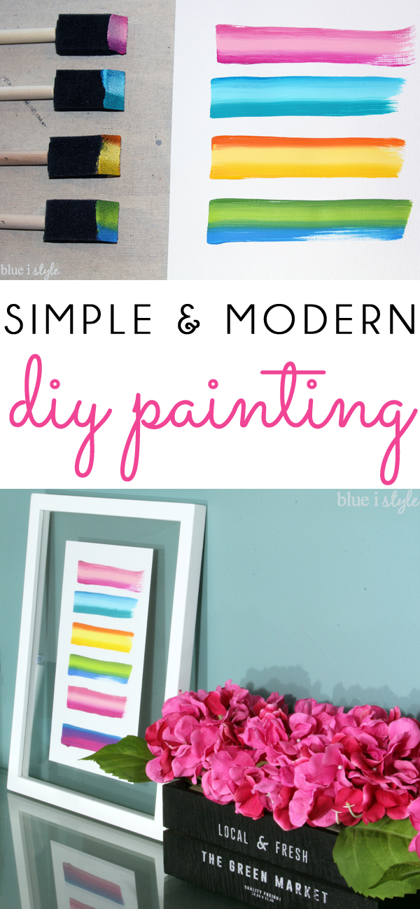 Simple Modern DIY Painting for Spring Summer