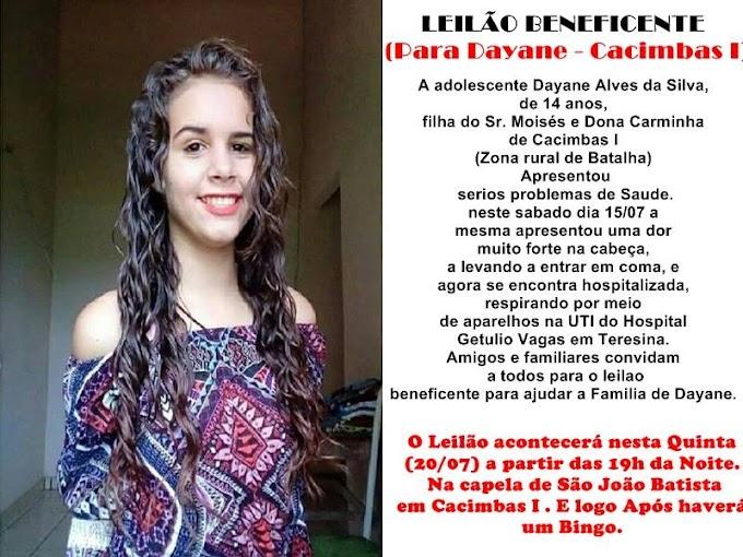 SOLIDARIEDADE: Vamos ajudar a Dayane Alves da Silva