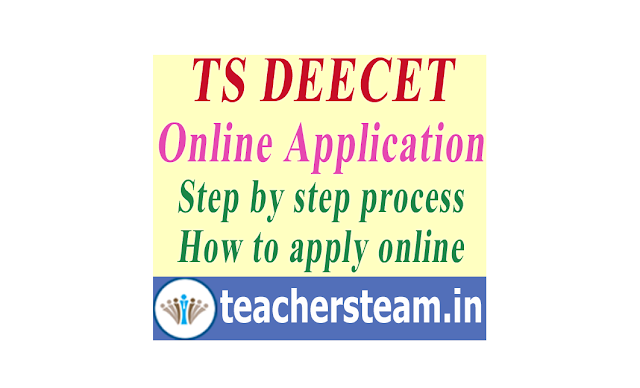 TS DEECET(TS DIETCET) Application online submission admission in D.El.Ed  and DPSE (TTC Course/DIET) - Step by Step process How to Apply at www.deecet.cdse.telangana.gov.in