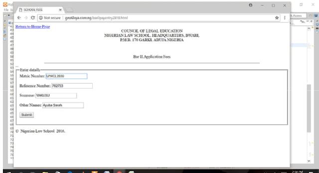 nls application fees 2