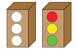 Bentuk lampu lalu lintas sederhana