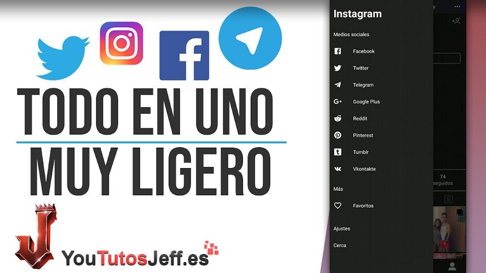 Juntar Instagram, Facebook y Twitter en Una Sola Aplicación - Todo en Uno