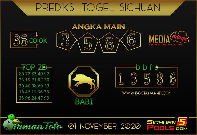 Prediksi Togel SICHUAN TAMAN TOTO 01 NOVEMBER 2020