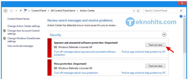 Mengaktifkan Windows Defender di Windows 10