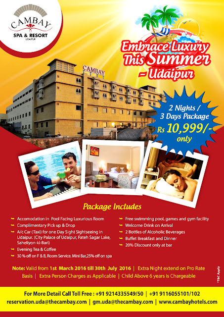 Cambay Resort Udaipur - A place to make your Summers Good
