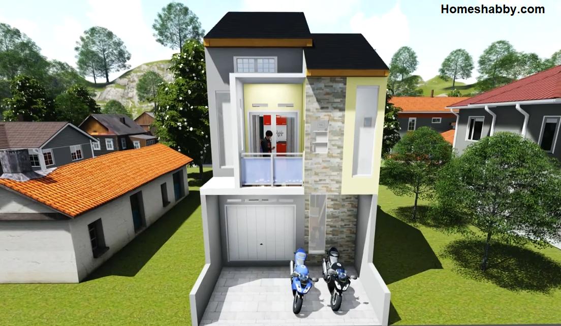 Desain dan Denah Rumah Toko (RUKO) Ukuran 5 x 11 M Cocok ...