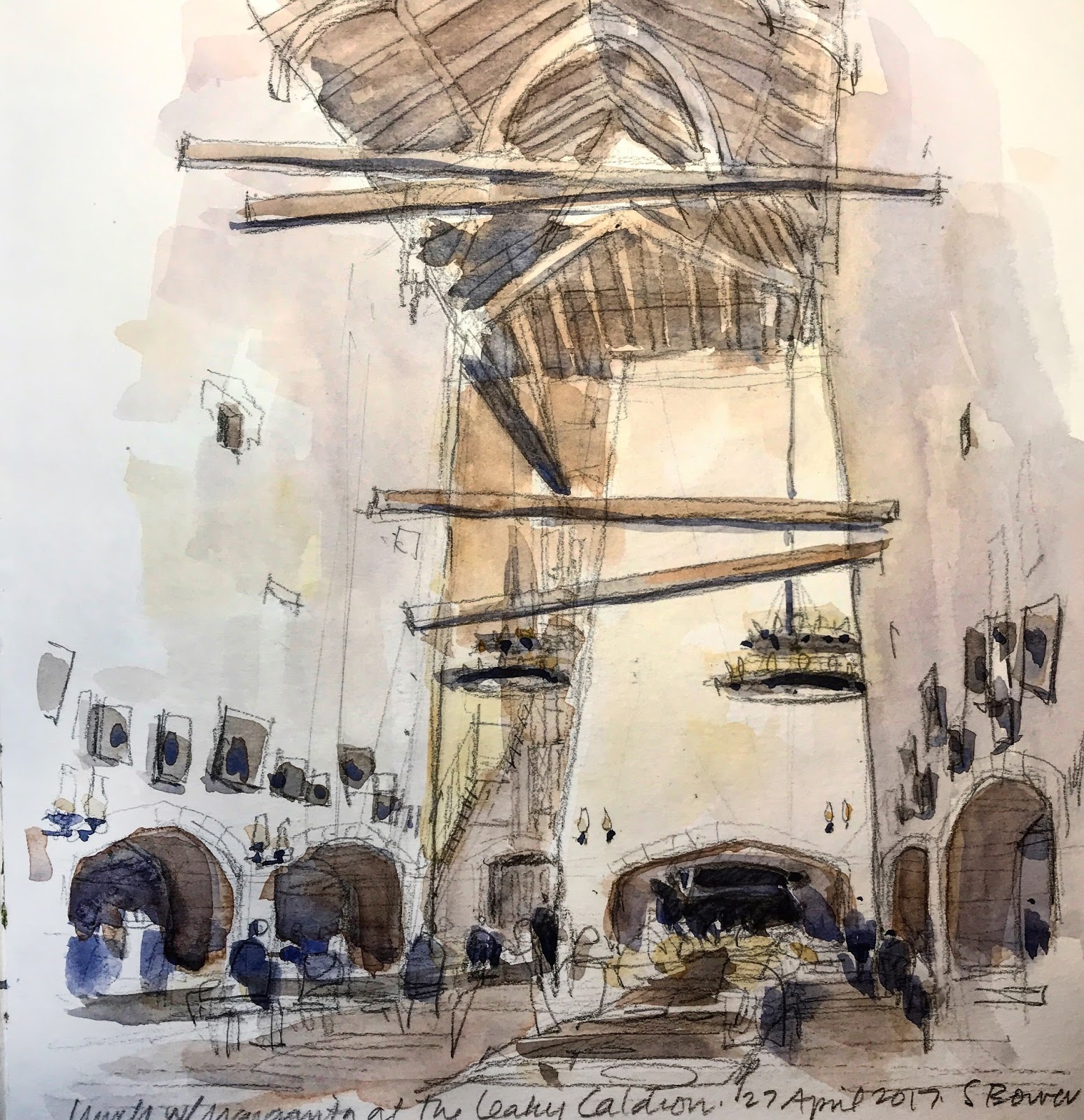 Fun with Harry Potter   Urban Sketchers