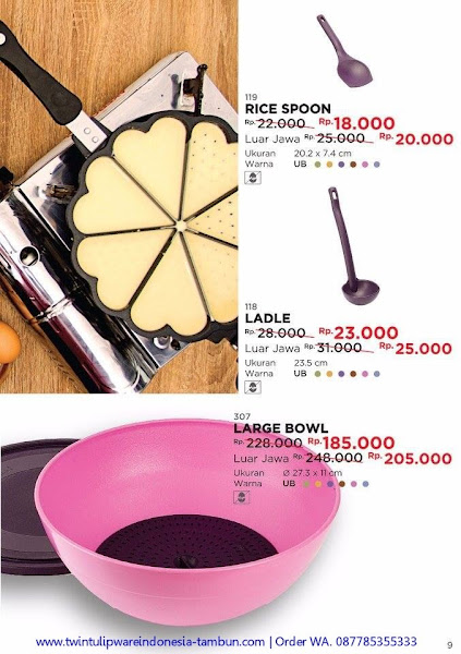 Promo Diskon November 2017, Rice Spoon, Ladle, Large Bowl