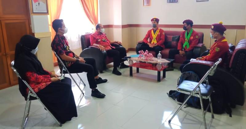 Galang Dukungan Pembentukan Cabang, PMKRI Kota Jajakan Gowa Kunjungi Kantor Bupati