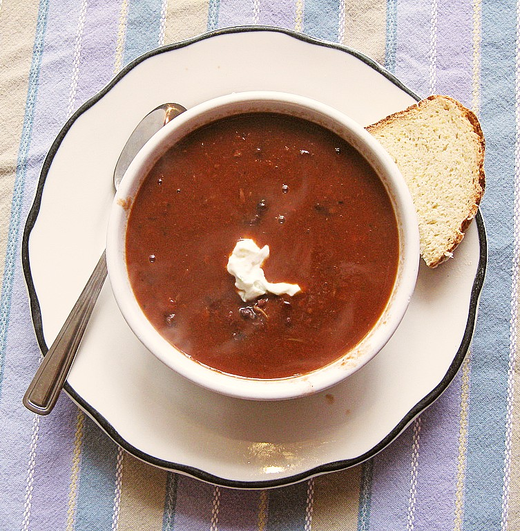 Mayan Bean Soup (Sopa de frijol)