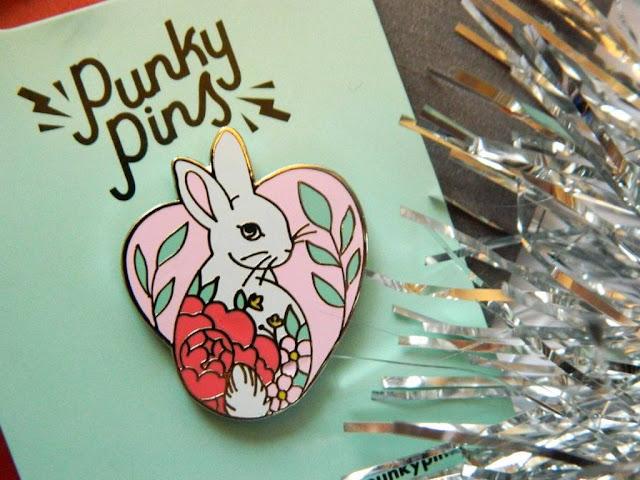 Punky Pins Bunny Heart Enamel Pin