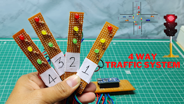 4 Way Taffic Control Using Arduino