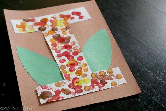 letter I preschool alphabet craft