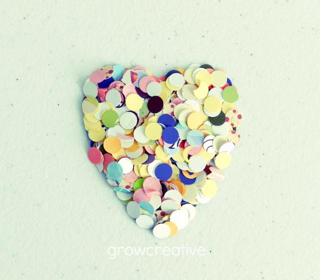 Valentine's confetti heart