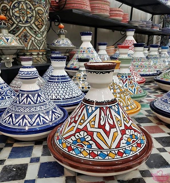 Fábrica de Mosaico e Cerâmica em Fez, no Marrocos