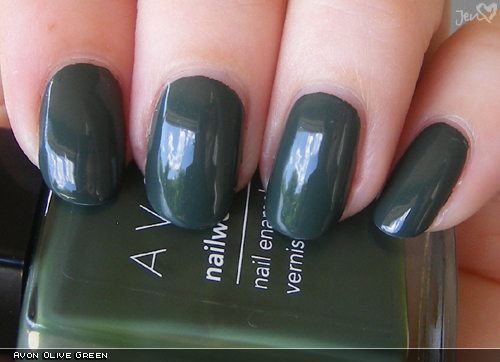 xoxoJen's swatch of Avon Olive Green