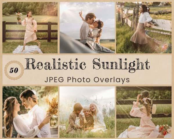 50 Realistic Sunlight Photo Overlay