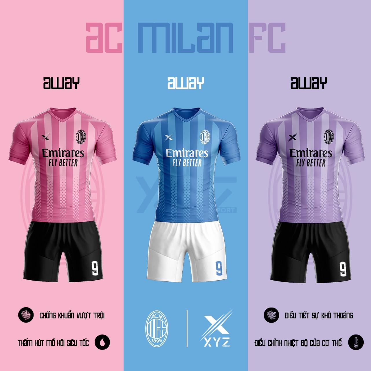 Áo Đấu Bóng Đá AC Milan Tự Thiết Kế Đẹp Và Độc - Mã AC02