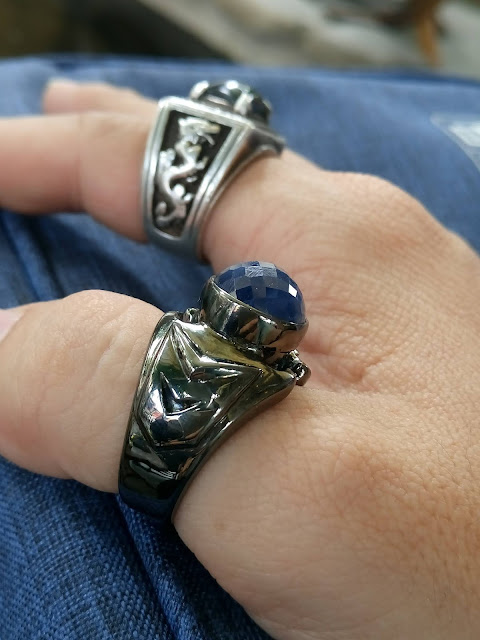 Nhẫn Nam đá quý Sapphire thiên nhiên