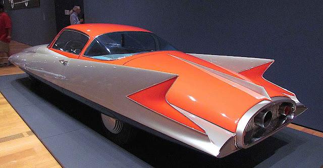 a 1955 Chrysler Ghia Streamline X concept car