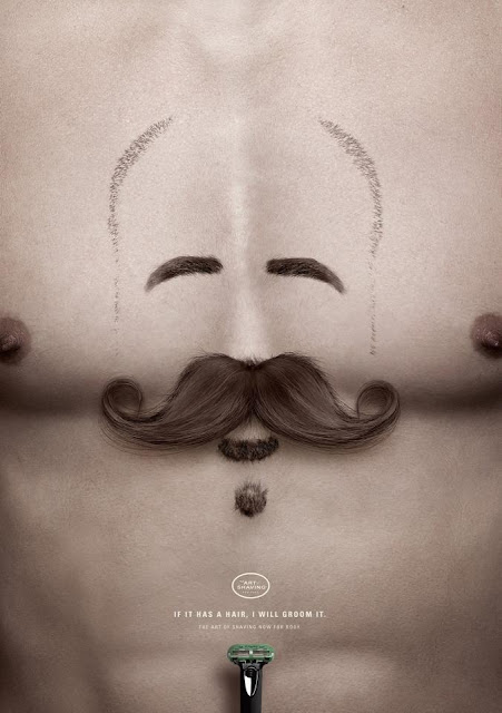 Green Pear Diaries, publicidad creativa, Art Shaving