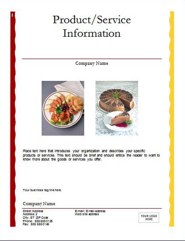 Advertising Flyer Templates ~ Microsoft Word Templates