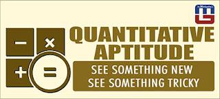 QUANTITATIVE APTITUDE QUESTIONS FOR SBI PO | 17 - MAR - 17