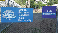 Entrance from Mansfield Street, Marsh Botanical Garden - Yale University, New Haven, CT
